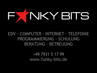 Bad Mergentheim EDV Computer Webdesign Software Hardware Beratung Programmierung Alternativen Homepage WebSite Funky Bits Alexander Becker